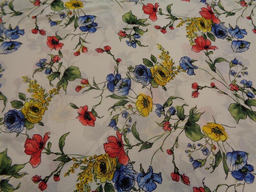 Λεπτό κρέπ 'Lady with flowers'