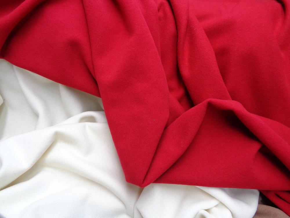 Μάλλινο βελούρ 'Lana' red