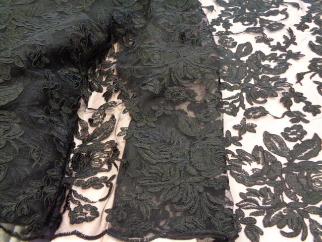 Δαντέλα κυμπούρ πολυτελείας 'Farfalla' black