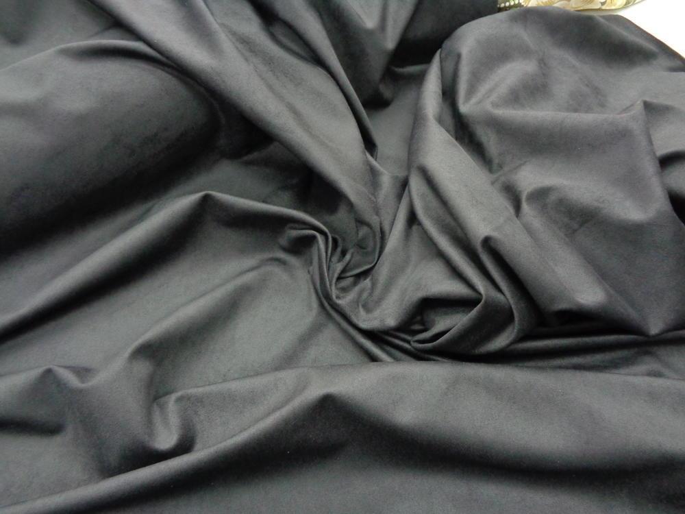Δερματίνη-αλκαντάρα 'Roses' μαύρο