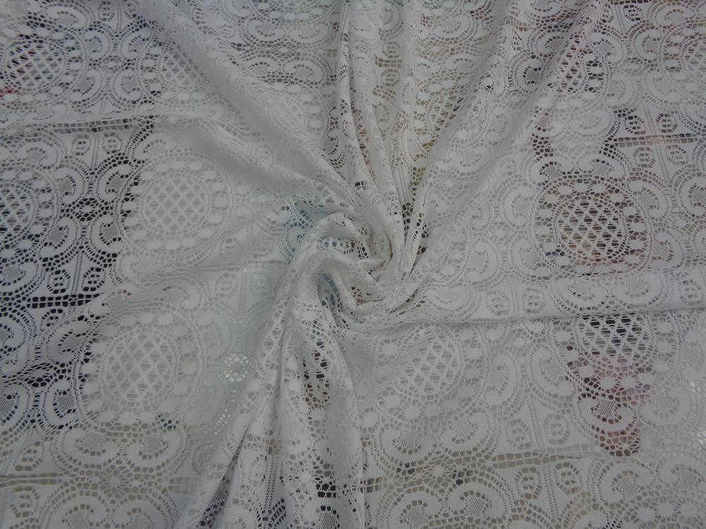 Δαντέλα πλεκτή 'Moroccan flowers' white
