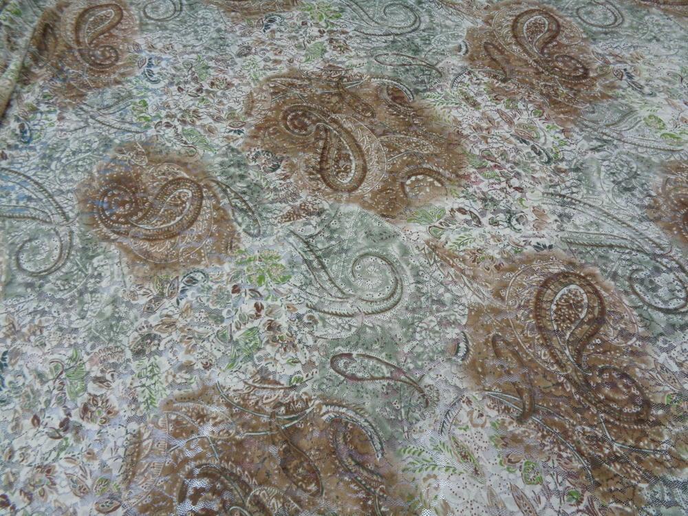 Δαντέλα 'Λαχούρια σε κρέμα' πράσινο