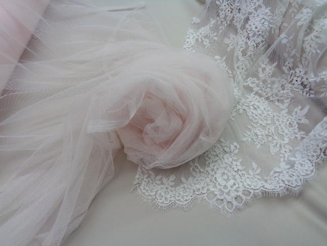 Τούλι σιλικόνης πολυτελείας 'Bride's Love' ρόζ