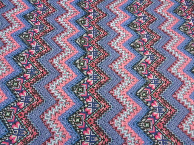 Λεπτό κρέπ 'Out of Mexico' purple-blue