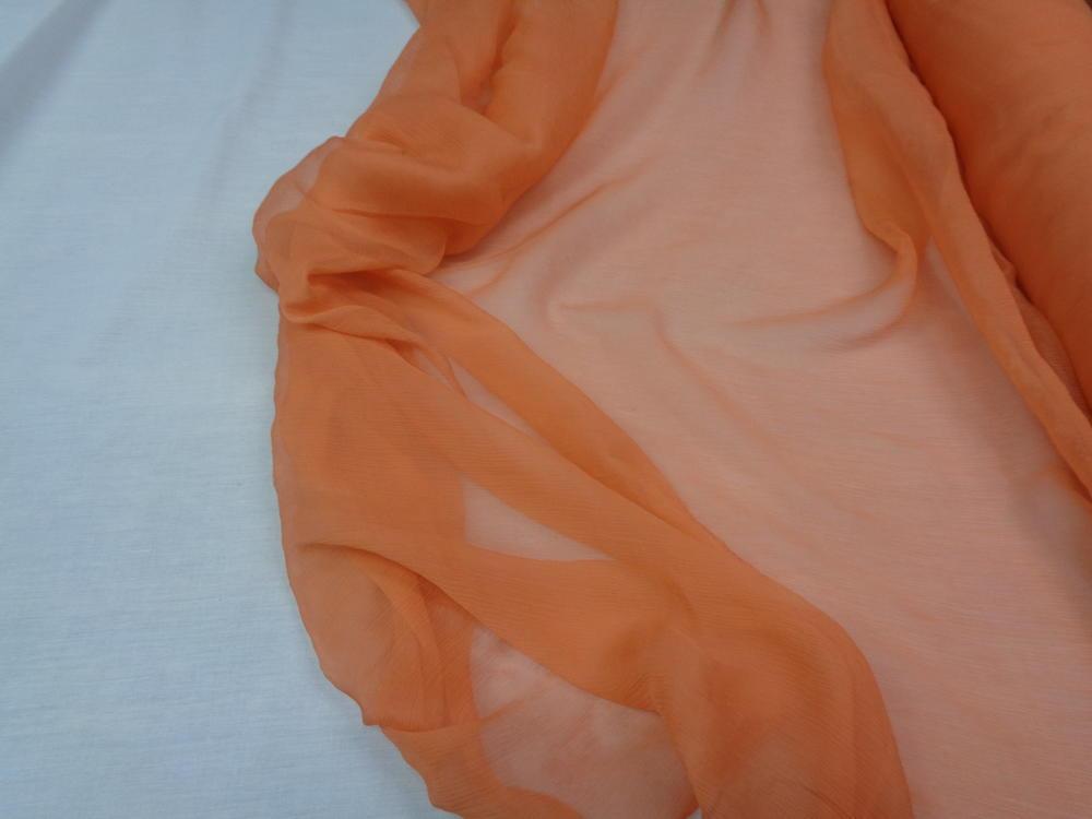 Ολομέταξη μουσελίνα σε πορτοκαλί-σομόν