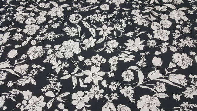Καπαρτίνα 'Chic flowers' black