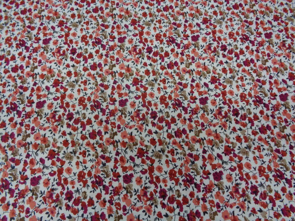 Λινό-βαμβάκι 'Faidra' orange roses