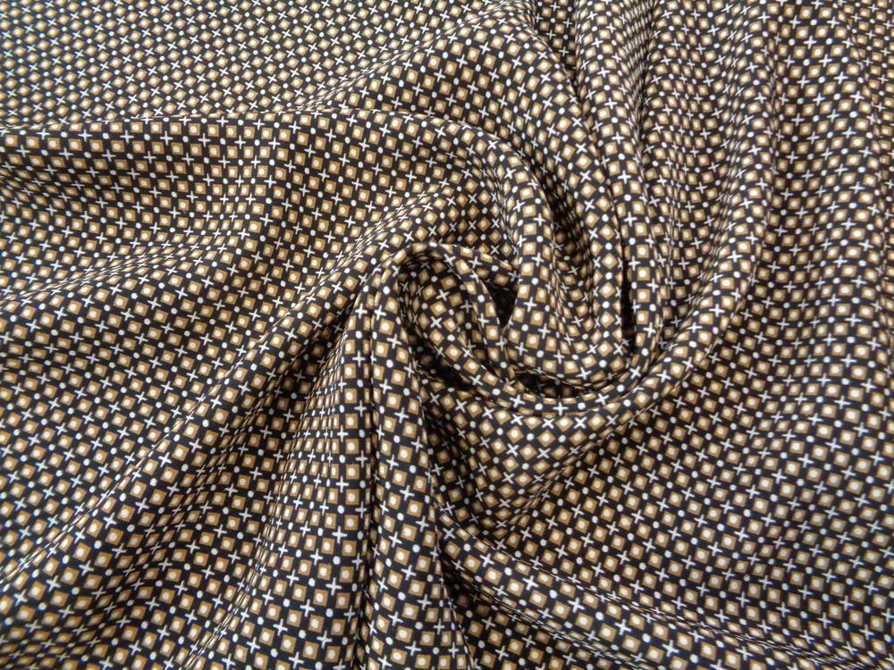 Κρέπ μαροκέν 'Titika' geometry blue