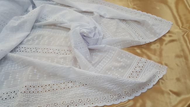 Μπροντερί 'Cotton lace' white