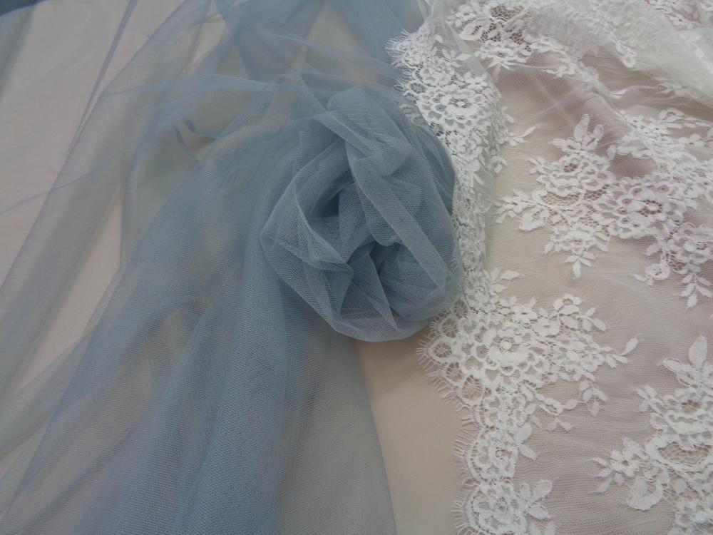 Τούλι σιλικόνης πολυτελείας 'Bride's Love' σιέλ