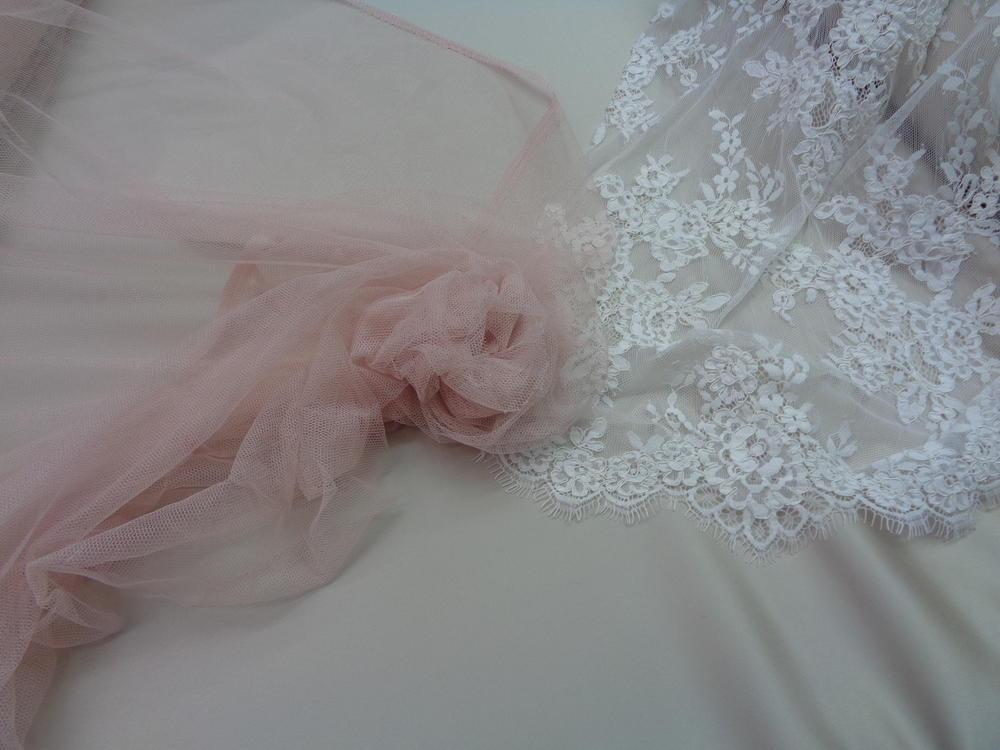Τούλι σιλικόνης πολυτελείας 'Bride' s Love' nude ζωηρό