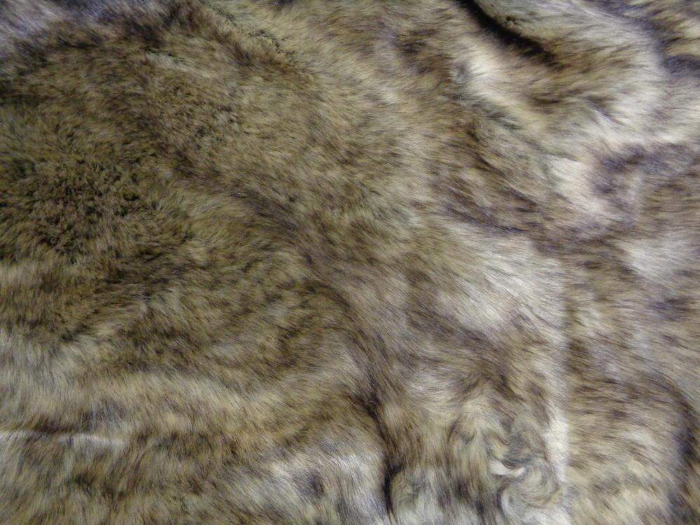 Γούνα οικολογική πολυτελείας  'Λύκος' ανοικτό