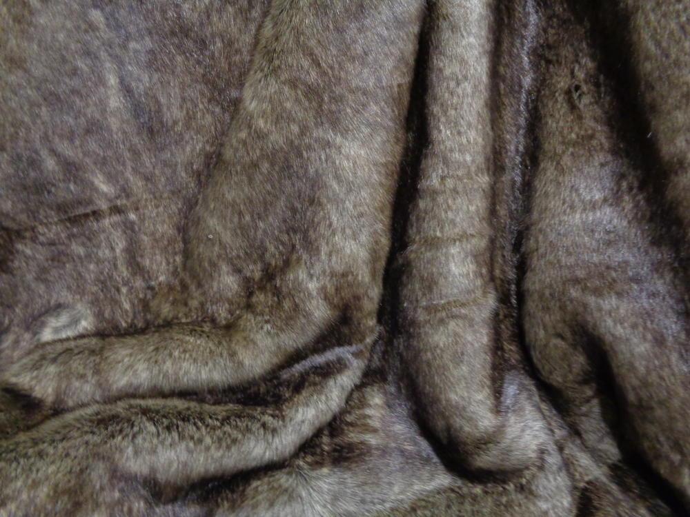 Γούνα οικολογική πολυτελείας  'Λύκος' σκούρο