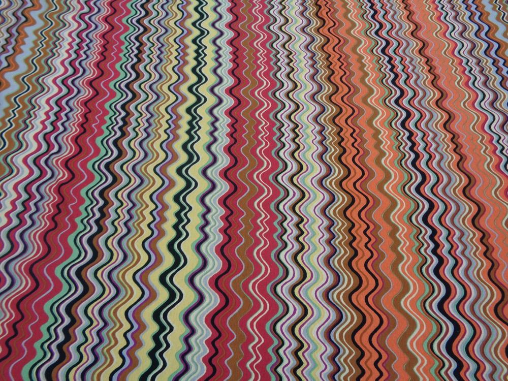 Βαμβακολίκλρα 'Missoni waves' red