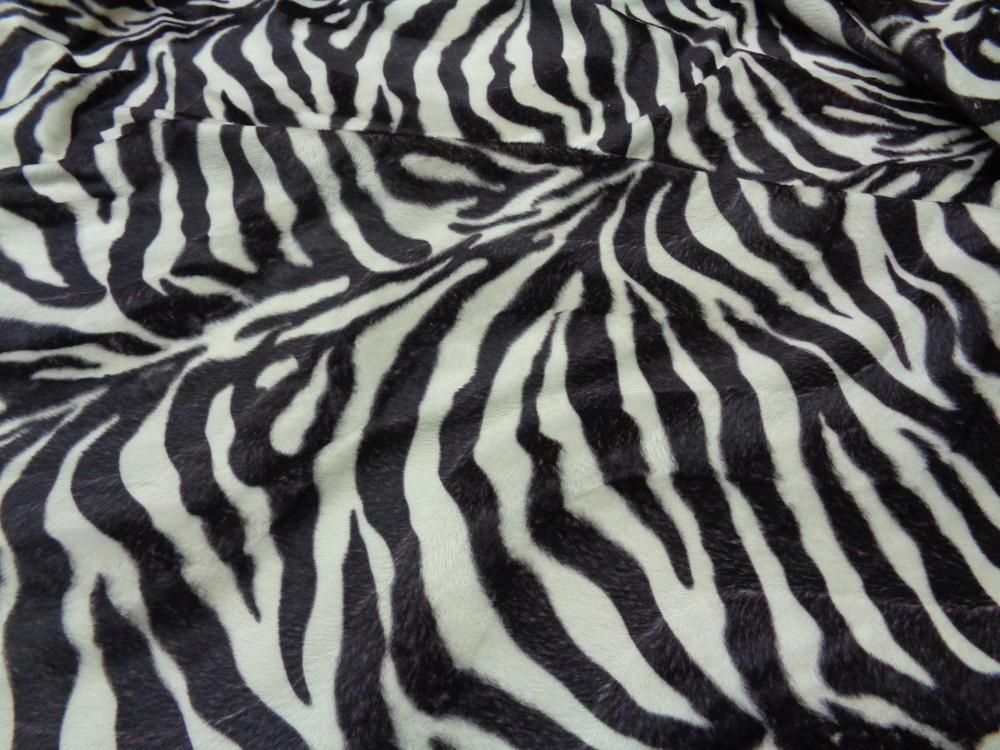 Animal print 'Zebra' camel