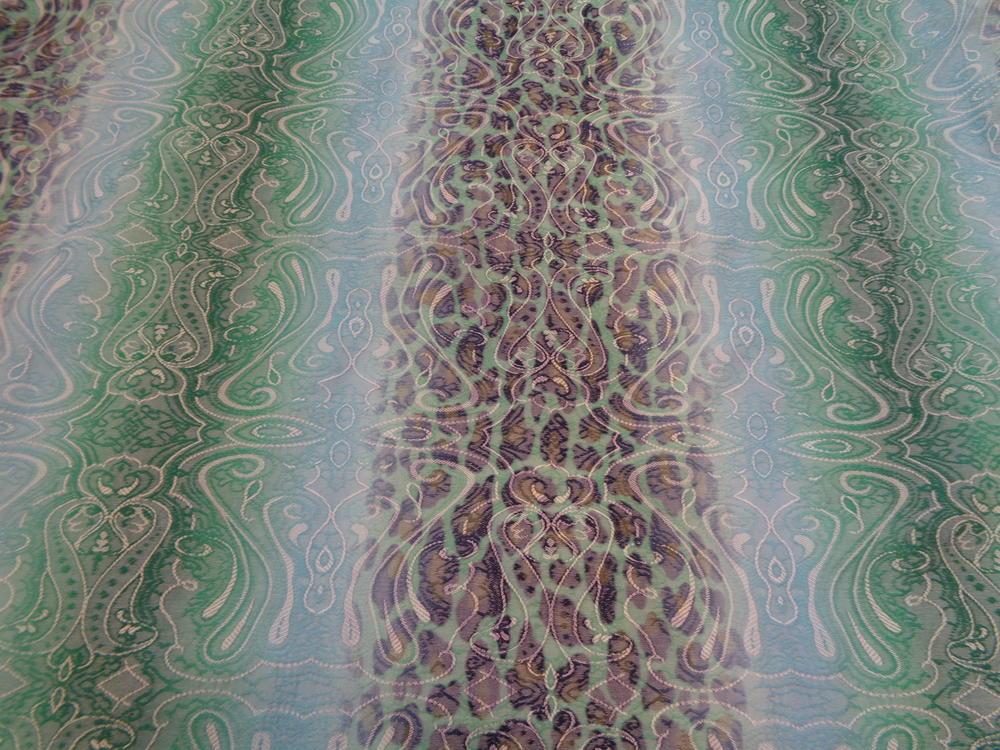 Μπροκάρ καπαρτίνα 'Isidora' animal print