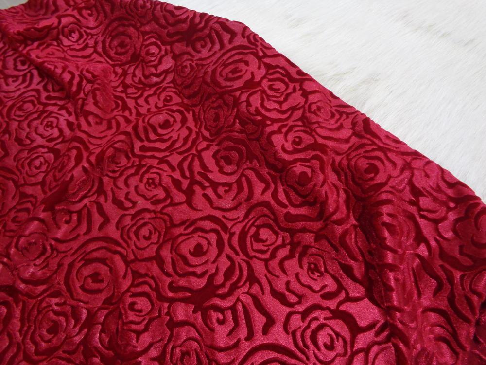 Μπροκάρ βελούδο 'Diamond Queen' red