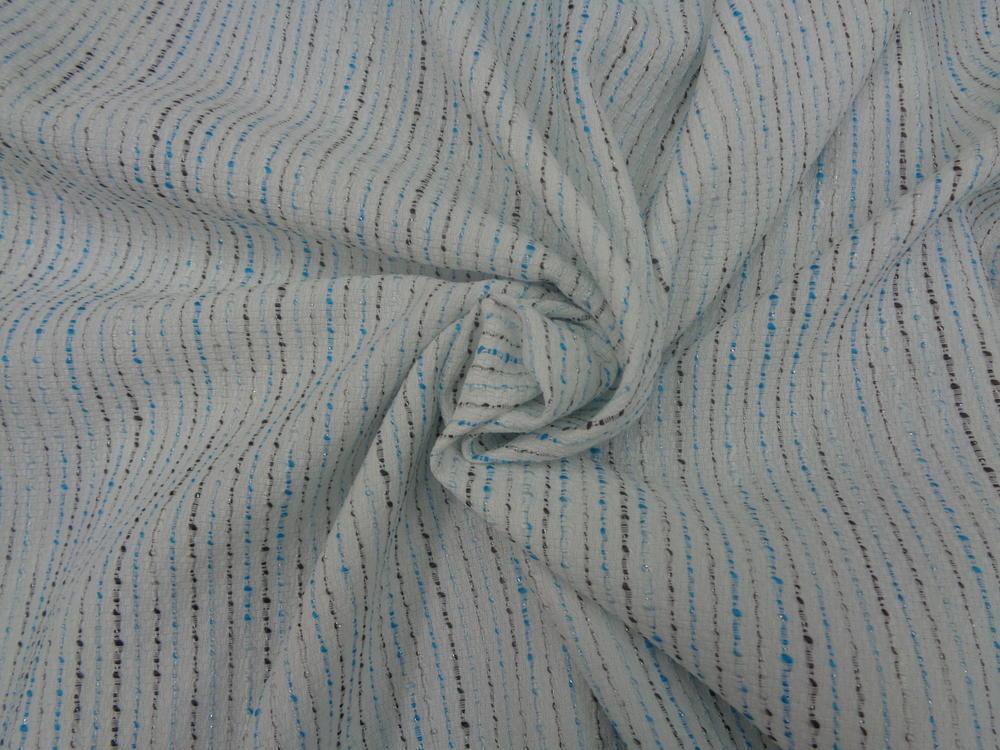 Μπροκάρ 'SIMONA' stripes white