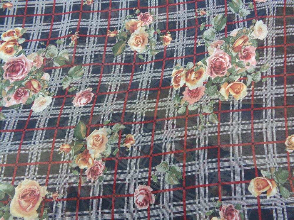 Μουσελίνα-ζορζέτα 'Spring bouquets'