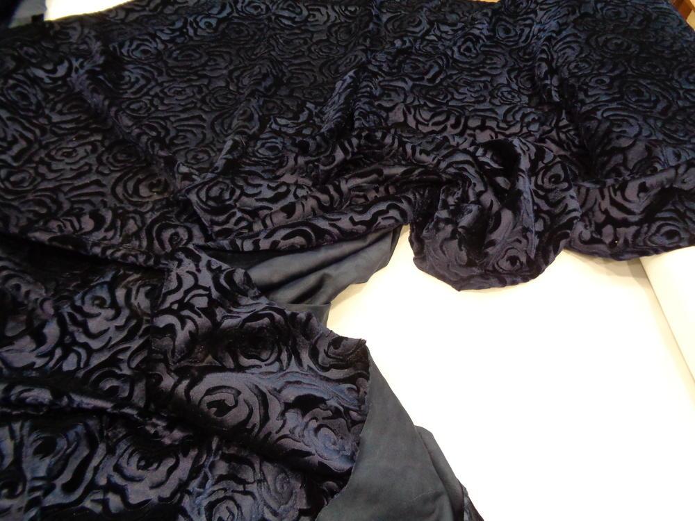 Μπροκάρ βελούδο 'Diamond Queen' black