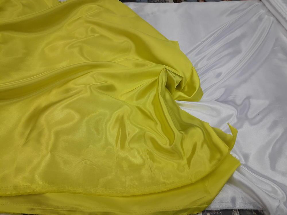 Σατέν-φόδρα σε κίτρινο