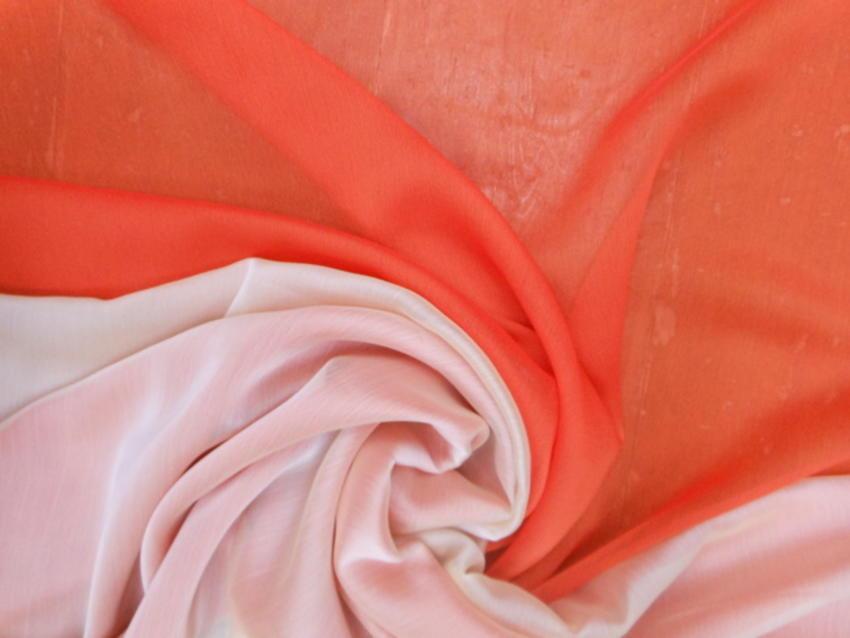 Οργάντζα-μουσελίνα σανζάν σε πορτοκαλί