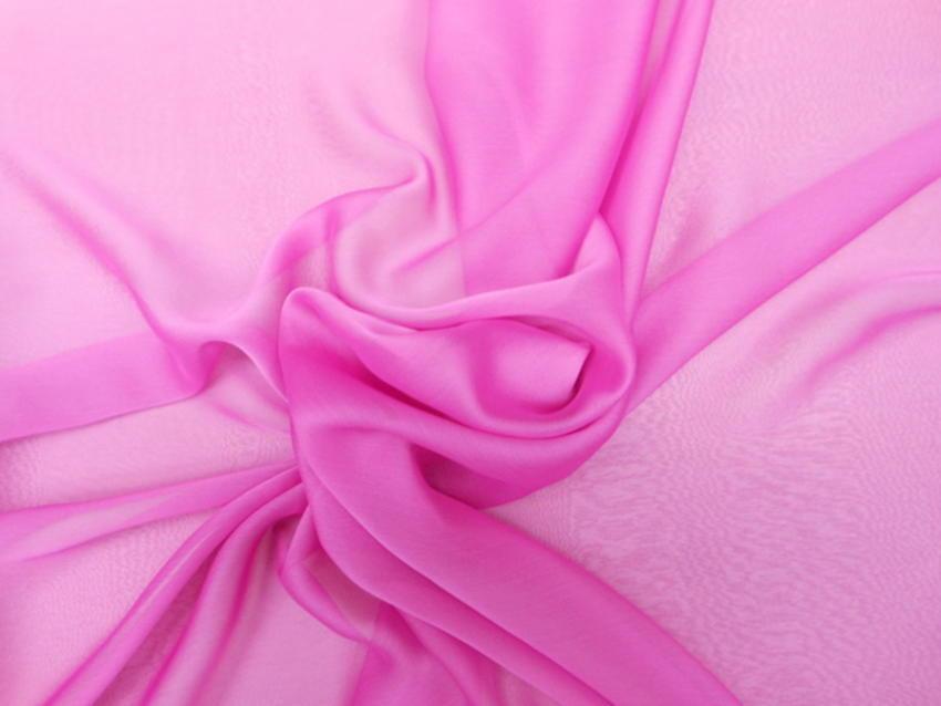 Οργάντζα-μουσελίνα σανζάν σε ρόζ έντονο