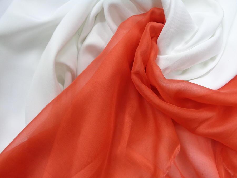Ολομέταξη σατινέ μουσελίνα 'Πορτοκάλι'