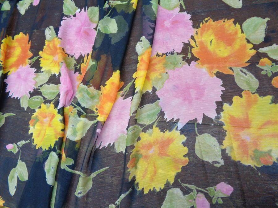 Μουσελίνα 'Flower bomb' κίτρινη